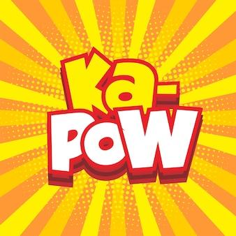 Fond d'éclatement comique avec texte kapow