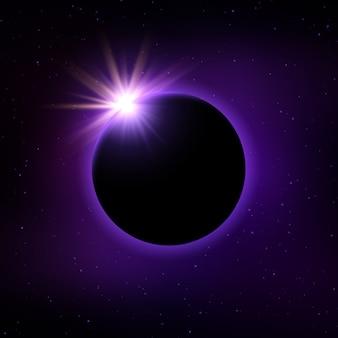 Fond d'éclipse solaire