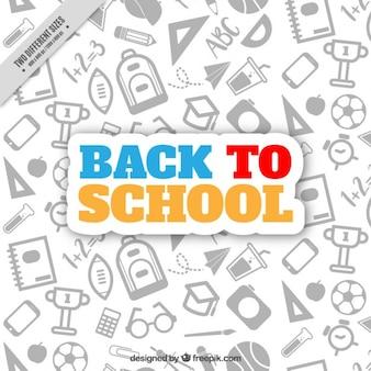 Fond de l'école avec des dessins