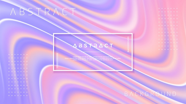 Fond d'écoulement abstrait avec mélange de violet et de rose.