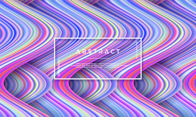 Fond d'écoulement coloré moderne.