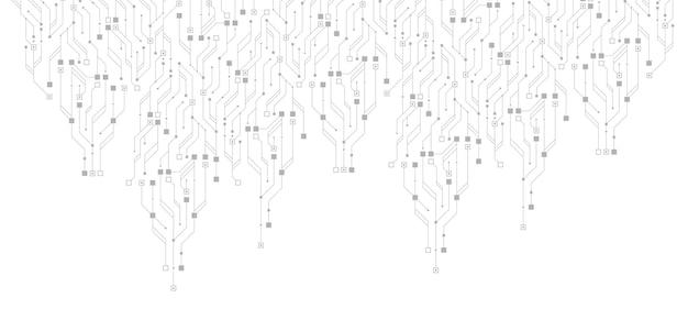 Fond d'écran abstrait de bannière de circuit imprimé