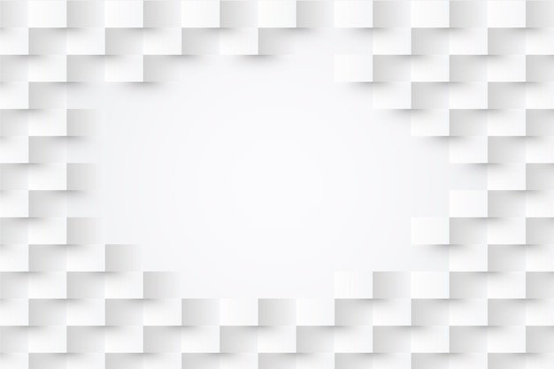 Fond d'écran abstrait blanc dans le concept de papier 3d