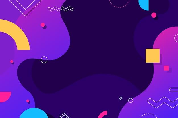 Fond d'écran abstrait coloré avec des éléments de memphis