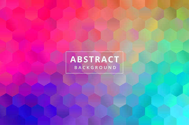 Fond d'écran abstrait coloré avec forme de polygone polygonal hexagone vecteur premium