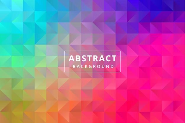 Fond d'écran abstrait coloré avec forme de polygone polygonal vecteur premium