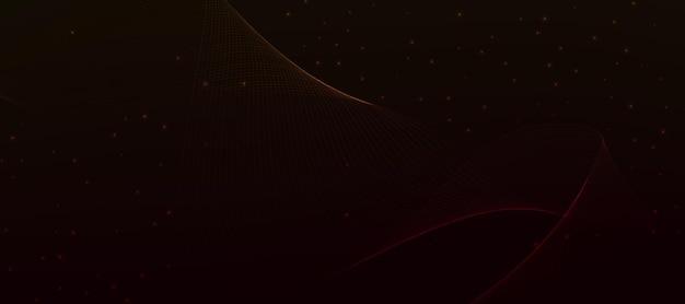 Fond d'écran abstrait dégradé rouge orange vague