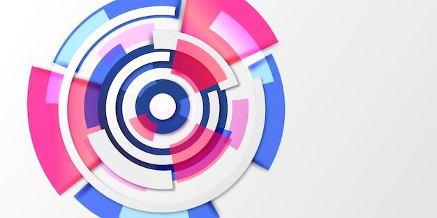 Fond d'écran abstrait avec différentes formes avec un espace vide