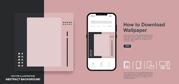 Fond d'écran abstrait fond coloré conception de modèles de publication de médias sociaux