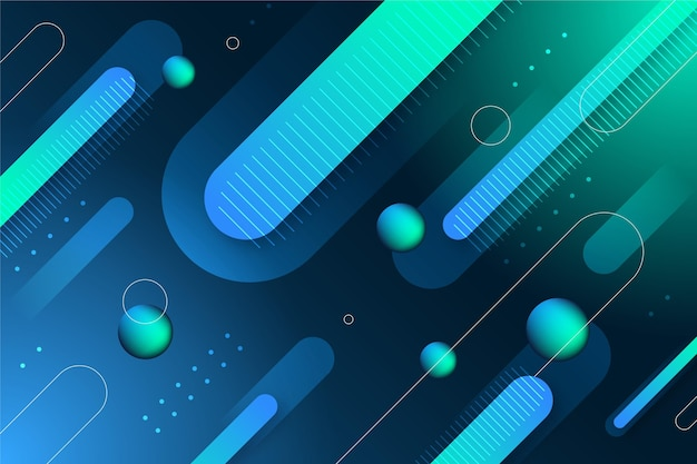 Fond d'écran abstrait avec des formes géométriques