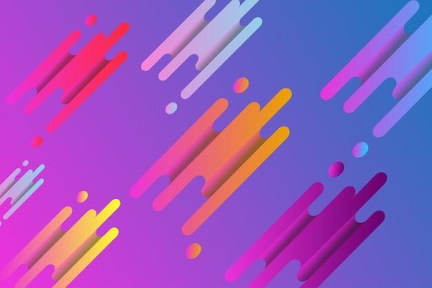 Fond d'écran abstrait moderne abstrait 3d dégradé coloré