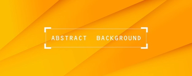 Fond d'écran abstrait orange et jaune doux et fond de bannière moderne horizontale