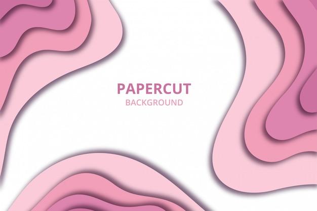 Fond d'écran abstrait papier découpé. modèle de toile de fond de couleur rose pâle doux