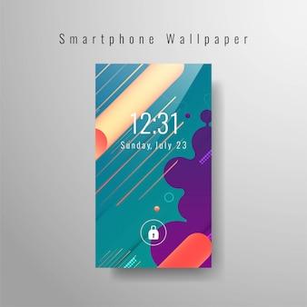 Fond d'écran abstrait smartphone moderne