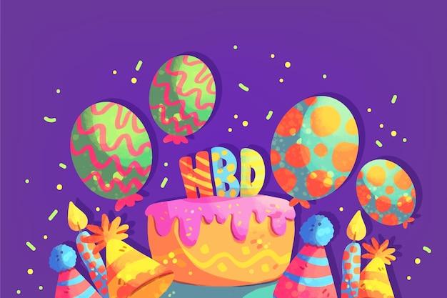 Fond d'écran d'anniversaire festif