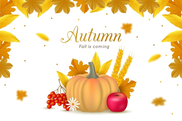 Fond d'écran automne réaliste