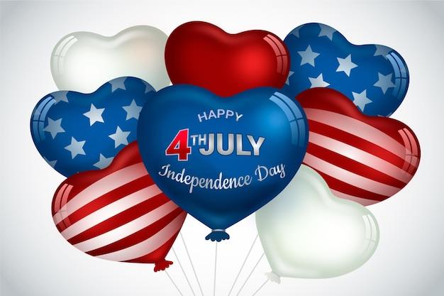 Fond d'écran de ballons de la fête de l'indépendance