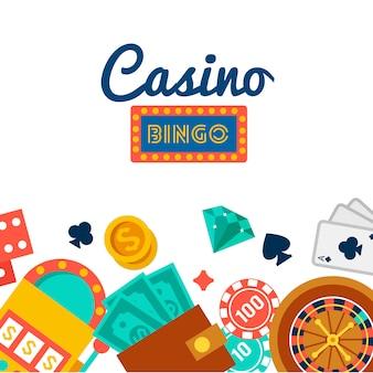 Fond d'écran de casino avec des éléments de poker