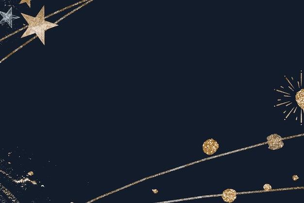 Fond d'écran de célébration bleu marine scintillant de nouvel an