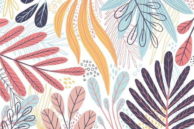 Fond d'écran coloré de feuilles différentes