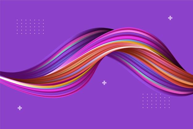Fond d'écran coloré de flux dynamique