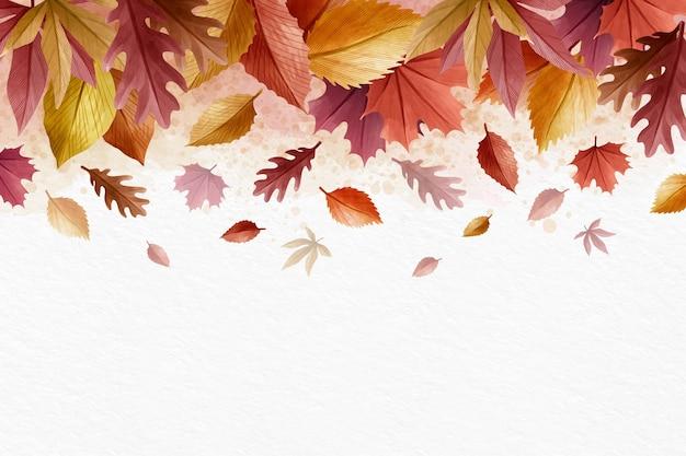 Fond d'écran créatif d'automne avec un espace blanc