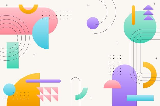Fond d'écran dégradé avec différentes formes