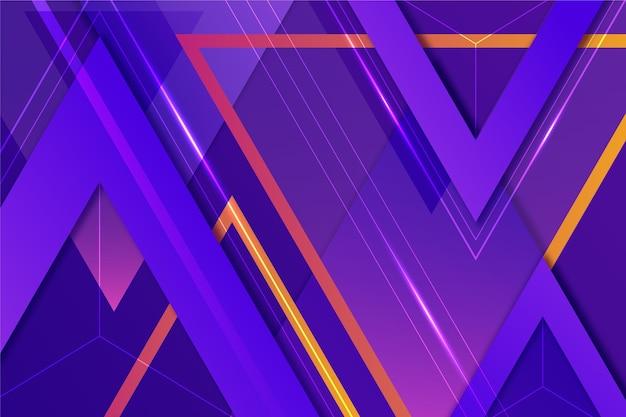 Fond d'écran avec différentes formes colorées