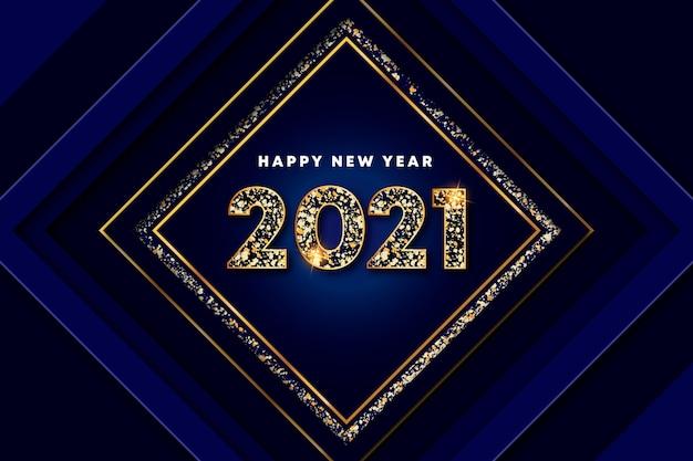 Fond d'écran du nouvel an doré