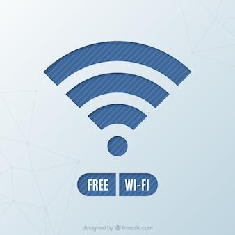 Fond d'écran du symbole wifi