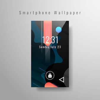 Fond d'écran élégant smartphone moderne