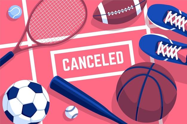 Fond d'écran des événements sportifs annulés