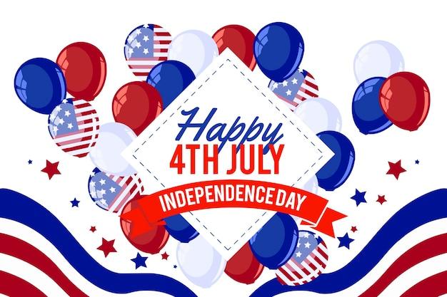 Fond d'écran de la fête de l'indépendance avec des ballons