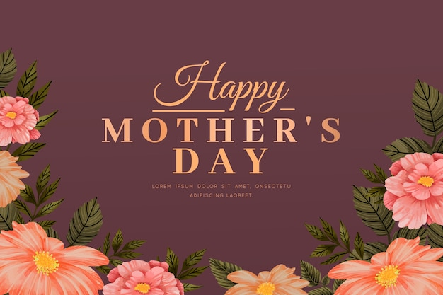 Fond d'écran fête des mères avec des fleurs