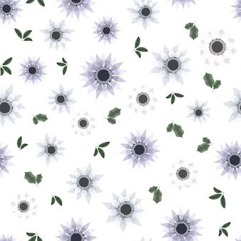 Fond d'écran de fleurs florales mignonnes vectorielle continue, vêtements pour femmes