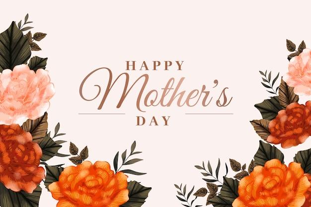 Fond d'écran floral de la fête des mères