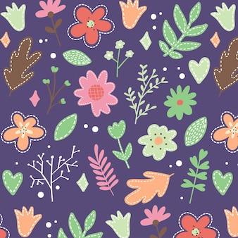 Fond d'écran floral sans soudure. motif vintage décoratif dans un style classique avec des fleurs et des brindilles.
