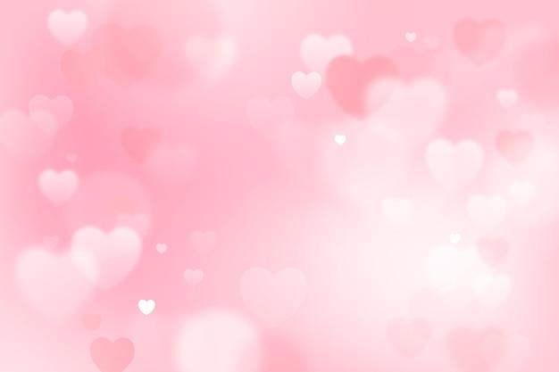 Fond d'écran flou de la saint-valentin