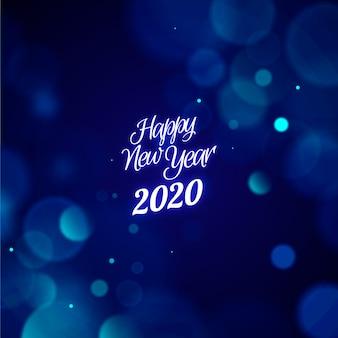 Fond d'écran floue du nouvel an 2020
