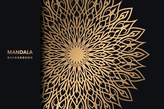 Fond d'écran de fond de mandala coloré dégradé