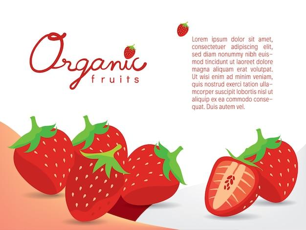 Fond d'écran de fraises juteuses bio