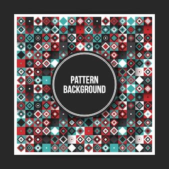 Fond d'écran géométrique coloré avec des éléments abstraits. utile pour les couvertures, les affiches et les sites web.