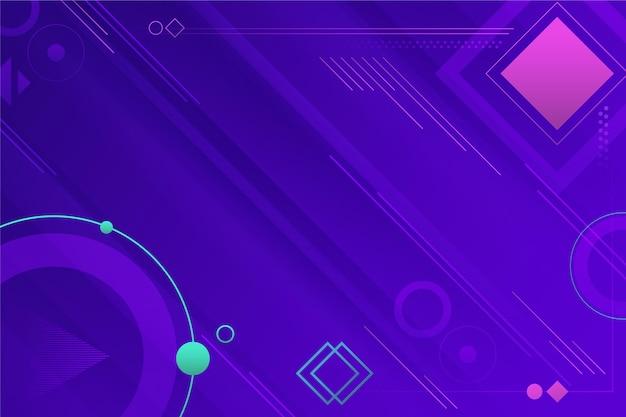Fond d'écran géométrique dégradé abstrait avec différentes formes