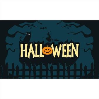 Fond d'écran halloween dessiné à la main fond sombre