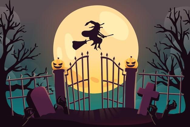 Fond d'écran d'halloween dessiné à la main