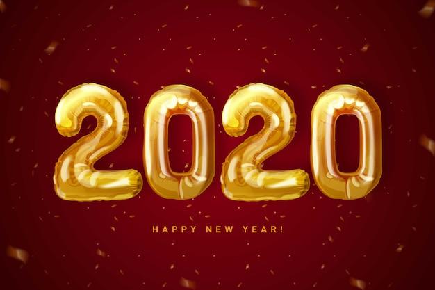 Fond d'écran de l'horloge du nouvel an 2020