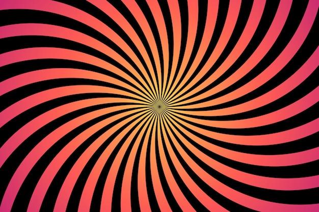 Fond d'écran illusion d'optique psychédélique