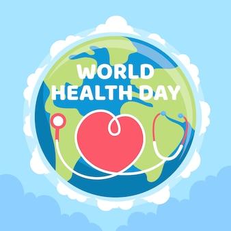 Fond d'écran de la journée mondiale de la santé au design plat