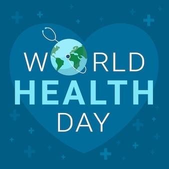 Fond d'écran de la journée mondiale de la santé avec de la terre