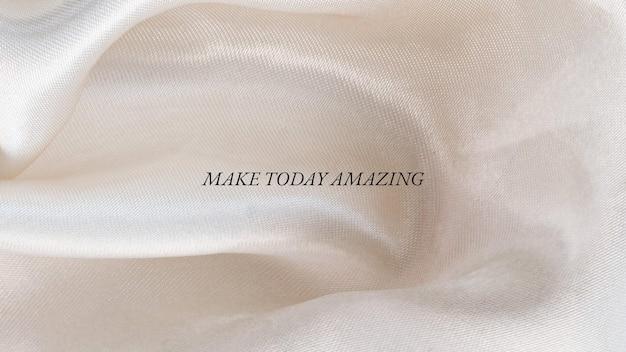 Fond d'écran de légende de tissu esthétique minimaliste